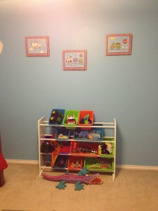 Love these toy storage units.